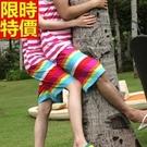 情侶款海灘褲(單件)-陽光彩虹與眾不同男女沙灘褲66z12【時尚巴黎】