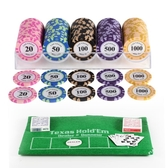 籌碼德州撲克套裝籌碼幣麻將棋牌室專用百家樂撲克桌布 小宅女