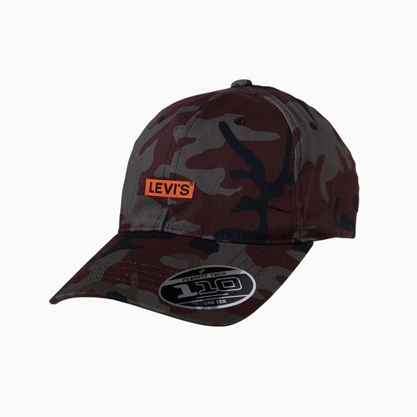 Levis 男女同款 可調式環釦棒球帽 / 復古迷彩貼布Logo / Flexfit 110吸濕排汗