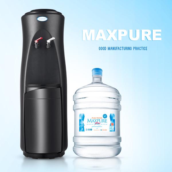 頂好 純水桶裝水17.25L X 15瓶 + 直立式溫熱飲水機(黑)
