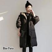 【藍色巴黎 】 秋冬韓版連帽羽绒棉服拉鍊短版外套 風衣《2色 》【28622】