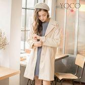 東京著衣【YOCO】法式輕甜毛呢口袋長大衣-S.M.L(172017)