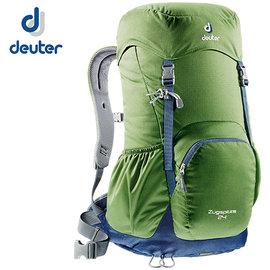 丹大戶外【Deuter】德國 Zugspitze 24L 網架直立式拔熱透氣休閒旅遊登山背包 3430116 綠/灰