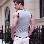 寬肩背心男士純棉青年透氣緊身無袖T恤修身型健身運動坎肩潮    琉璃美衣