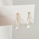 【NiNi Me】夾式耳環 復古宮廷風珍珠925銀針耳環 夾式耳環 E0244