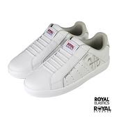 Royal Elastics Genesis 白色 皮質 套入 休閒運動鞋 女款 NO.J0443【新竹皇家 91902-008】