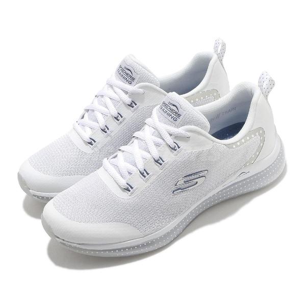 Skechers 休閒鞋 Skech Air Element 2.0-Lucky Delight 白 銀 氣墊 女鞋 運動鞋 【ACS】 149403WNV
