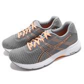 Asics 慢跑鞋 Gel-Phoenix 9 灰 橘 九代 避震透氣 女鞋 亞瑟士 運動鞋【PUMP306】 T872N020