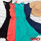 SPAO女款舒適造型裙襬縮腰長洋裝-共4...