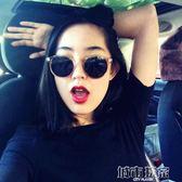 太陽眼鏡 韓版眼睛新款小臉太陽鏡女士潮網紅復古偏光墨鏡眼鏡圓臉  城市玩家