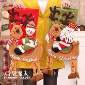 圣誕節禮物襪 圣誕老人雪人禮品大號袋裝飾布置襪平安夜蘋果襪子 全店88折特惠