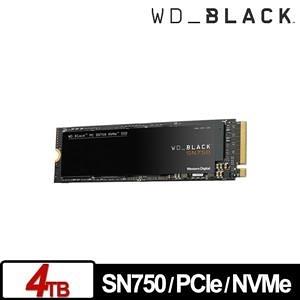 【綠蔭-免運】WD 黑標 SN750 4TB M.2 2280 PCIe SSD