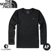 【The North Face 男 排汗長袖上衣《黑》】49A4/排汗衣/圓領長袖/T恤