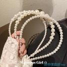 兒童髮箍 帆家韓國新款兒童復古清新發箍珍珠頭箍壓發發卡氣質發帶女童發飾 快速出貨