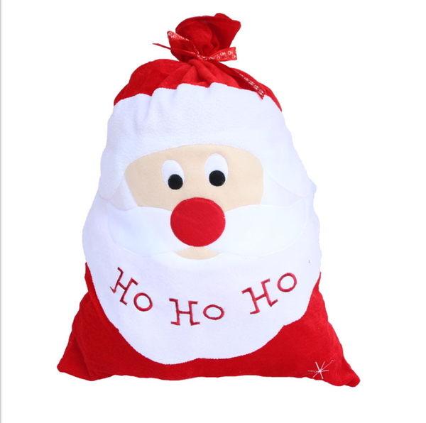 新款聖誕金絲絨刺繡禮物袋 大號聖誕老人禮品袋 聖誕老人禮物袋─預購CH2410