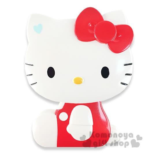 〔小禮堂〕Hello Kitty 造型折疊梳《紅.側坐.盒裝》附鏡子 8021660-27411