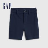 Gap 男幼童 簡約風格純色休閒短褲 542351-海軍藍