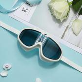 泳鏡 高清防霧防水大框平光游泳眼鏡男女士成人游泳裝備 晶彩生活
