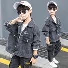 男童外套 男童牛仔外套秋裝新款兒童裝洋氣夾克上衣春秋款男孩帥氣潮裝