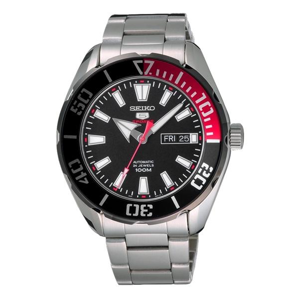 SEIKO 神鬼無懼機械腕錶-紅-SRPC57K1