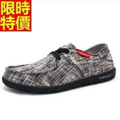 帆布鞋-韓版潮流格子透氣男休閒鞋3色67l3【巴黎精品】