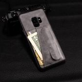 創意彈簧支架 三星 Galaxy S9 S8 Plus s8 s9 手機保護殼 插卡背殼 軟 矽膠 貼皮 手機套