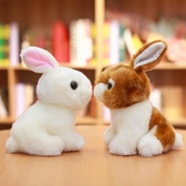 兔子毛絨玩具韓國可愛仿真兔兔公仔小白兔玩偶少女心娃娃小號女生聖誕節