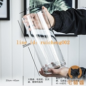 花瓶簡約玻璃透明落地擺件客廳餐桌干花插花飾品【宅貓醬】