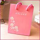 粉紅玫瑰手提袋