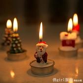 聖誕節裝飾品 創意聖誕老人雪人鬆果雪房子聖誕樹浪漫聖誕蠟燭 聖誕狂歡節