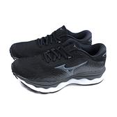 美津濃 Mizuno WAVE SKY 5 WIDE 跑鞋 運動鞋 黑色 女鞋 寬楦 J1GD211252 no139