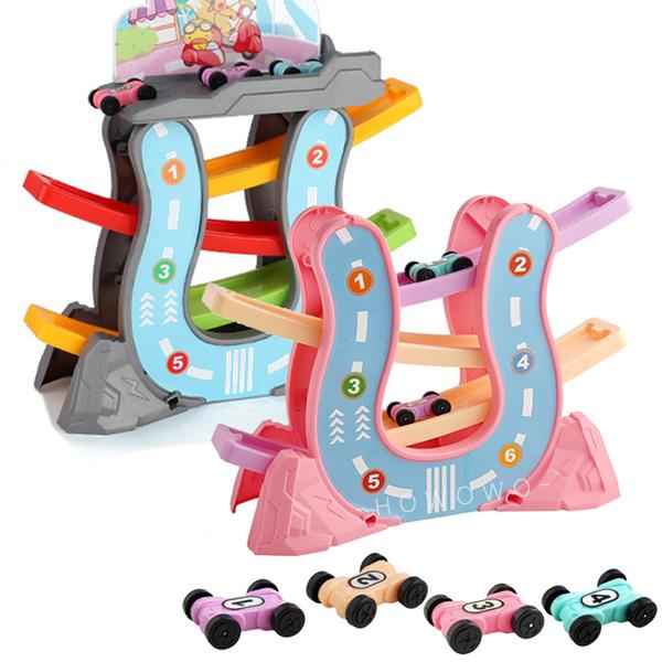 軌道溜溜車 翻滾小車車 歡樂軌道車 軌道滑翔車 滑行軌道小車 益智玩具 6814 好娃娃