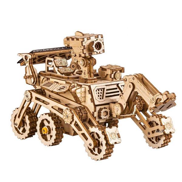 《 Robotime  》3D木製拼圖 - LS402 太陽能車 Curiosity Rover╭★ JOYBUS玩具百貨