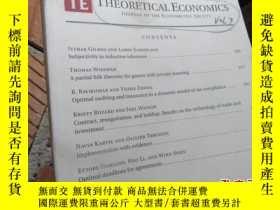 二手書博民逛書店theoretical罕見economics journal o