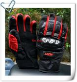 LAZER手套,防摔/防水/防寒手套,HA-3,黑/紅
