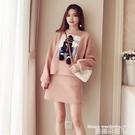 洋裝套裝 2021秋冬新款羊羔絨衛衣半身裙套裝女裝時尚慵懶風短裙子兩件套潮 曼慕