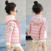 女童羽絨服2019冬裝新款韓版洋氣中大童輕薄羽絨服兒童冬季外套