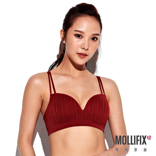 Mollifix 瑪莉菲絲 A++ Y字細肩帶美胸BRA (酒紅)