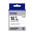 EPSON LK-5WBW C53S655409 高黏性系列白底黑字標籤帶(寬度18mm)