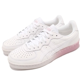 Asics 休閒鞋 Tiger GSM 白 粉紅 皮革鞋面 漸層中底 基本款 運動鞋 女鞋【PUMP306】 1182A035-101