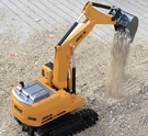 挖掘機玩具 合金電動遙控挖掘機 充電挖土機合金工程車模型 玩具鉤機男孩【快速出貨八折搶購】