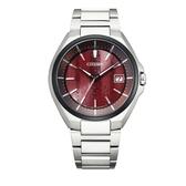 CITIZEN 星辰 東京˙紅限量版腕錶 電波鈦金屬錶 CB3016-51Z 紅