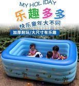 充氣泳池嬰兒游泳池家用寶寶幼兒童特厚充氣游泳桶超大型成人小孩洗澡水池igo    蜜拉貝爾