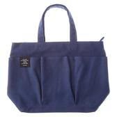 日本 DELFONICS 多口袋收納布包 - 深藍 (M)