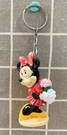 【震撼精品百貨】Micky Mouse_米奇/米妮 ~造型鑰匙圈~米妮拿花#01001