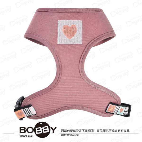 狗日子法國《BOBBY》音樂胸背心XS號 粉藍/藕粉色 衣服式胸背 寬版H帶 小型犬適用