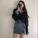 短裙 韓國東大門女裝2021夏季新款性感側開叉包臀牛仔短褲短裙半身裙潮