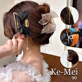 克妹Ke-Mei【AT70360】choker韓國空運法式蕾絲垂墜珍珠鯊魚夾髮夾
