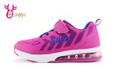 FILA 中大童運動鞋 輕量氣墊慢跑鞋N7698#紫色◆OSOME奧森鞋業
