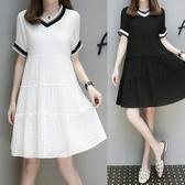 微胖妹妹mm大尺碼洋裝 潮雪紡連身裙女 大尺碼洋裝
